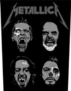 Metallica Undead jumbo sized sew-on cloth backpatch  -mm-